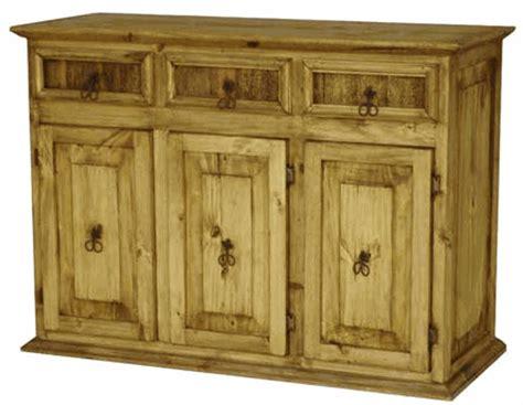 Rustic Credenza - saltillo rustic wood credenza