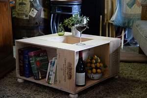 Caisse De Vin En Bois : caisse de vin en bois table par oldewayscreations sur etsy ~ Farleysfitness.com Idées de Décoration