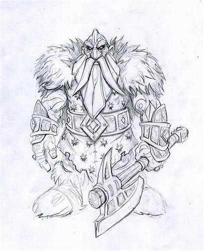 Warcraft Dwarf Iron Coloring King Artworks Lich