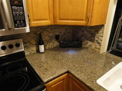 lazy granite tile for kitchen countertops countertop corner finished with antique brrown 24 x 24 9679