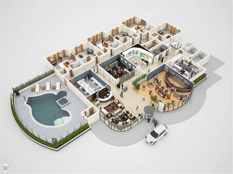 home plan 3d design ideas conceptual 3d hotel floor plan for e learning jericho