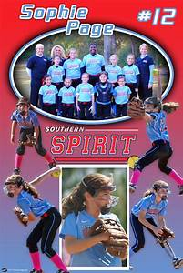 Excel Youth Sports Personalized Softball Poster Southern Spirit Custom
