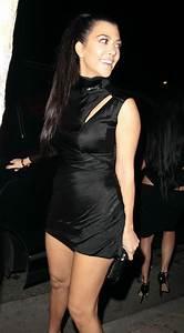 Kourtney Kardashian in a Little Black Dress at Delilah in ...