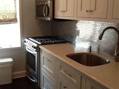kitchen stainless steel backsplash stainless steel kitchen tiles backsplash roselawnlutheran