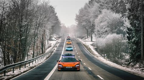 mclaren fleet  switzerland  wallpaper hd car