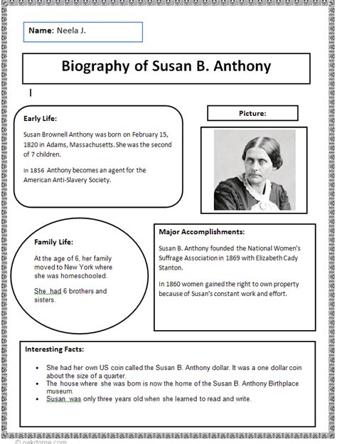 Historical Biography Template by Common Biography Research Graphic Organizer K 5