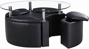 black coffee table with stools coffee table design ideas With black coffee table with stools