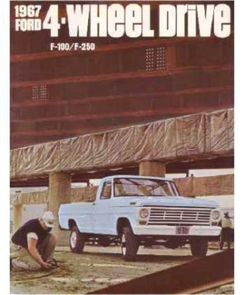 ford    wheel drive truck sales brochure