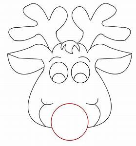Rudolph reindeer face craft for coloring responses on for Rudolph the red nosed reindeer template
