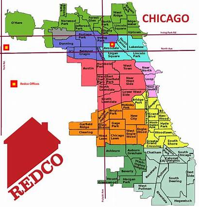 Chicago Neighborhood Map Maps Sightseeings Interest Points