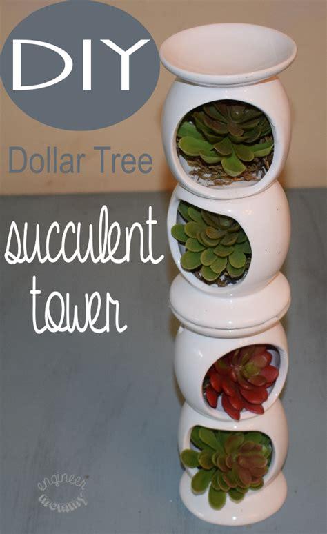 Diy Dollar Tree Succulent Tower  Diy Home Decor