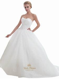 ivory strapless tulle ball gown sweep train wedding With ivory ball gown wedding dress