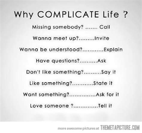 Funny Quotes On Complicated Life