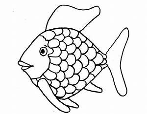 rainbow fish printable coloring page coloring home With rainbow fish colouring template