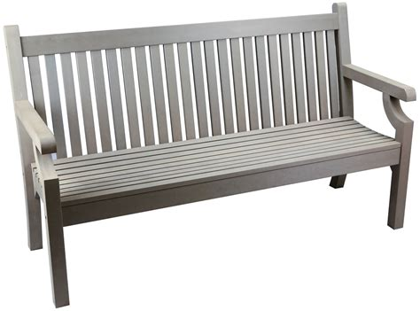 sandwick winawood  seater wood effect garden bench grey