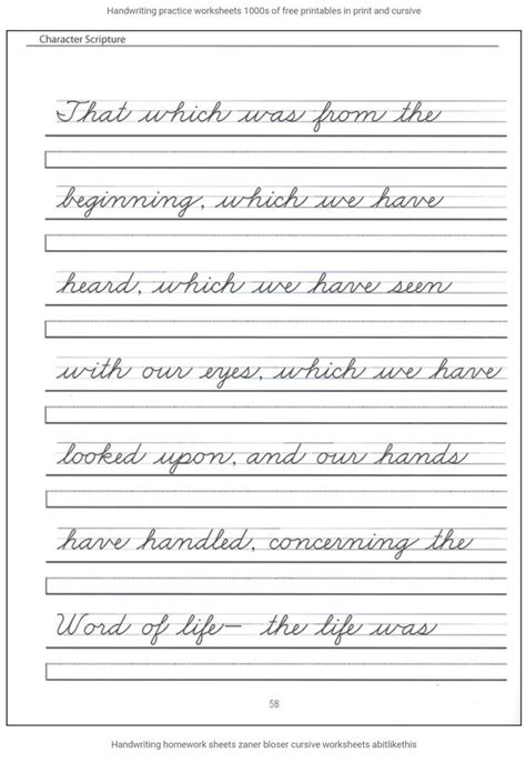 28 Best Handwriting Practice For 2nd, 3rd And 4th Grades Images On Pinterest Handwriting