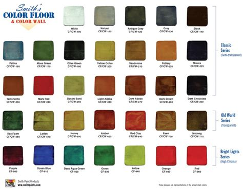 1000 images about water based concrete stain color charts