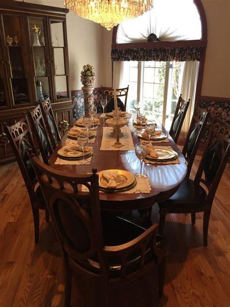 Plunkett Vintage Antique Solid Wood Dining Room Set Table