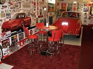 Retro Pub Table Bar Stools Red Custom Made Bar Height