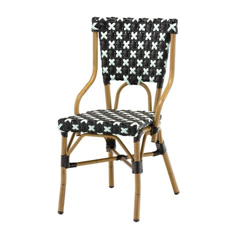 chaise bistro chaise bistrot en alu et polyrotin chaise bistrot pour
