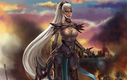 Warrior Fantasy Female Woman Artwork Wallpapers Desktop