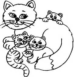 Free Coloring Pages of Cats and Kittens