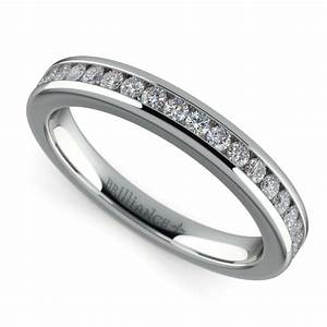 channel diamond wedding ring in white gold With channel wedding rings
