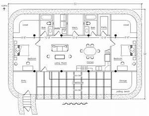 Rectangular/Square Earthbag House Plans