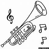 Trumpet Coloring Pages Instruments Music Brass Musical Instrument Sheets Thecolor Preschool Books Crafts Tattoo Trumpets Saxophone Patterns Drawings Printable Colouring sketch template