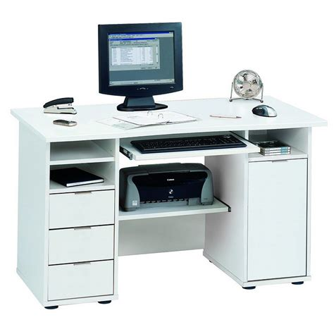 bureau ordinateur moderne bureau pour ordinateur norrköpping blanc bon prix