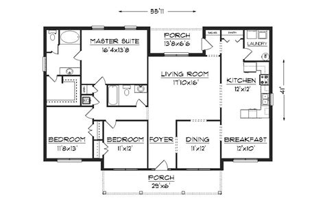Free Home Plan by J2070 House Plans By Plansource Inc