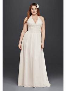 plus size lace sheath halter wedding dress david39s bridal With plus size sheath wedding dress