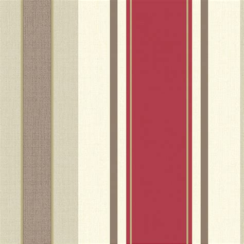 opera dante red stripe wallpaper decorating diy bm