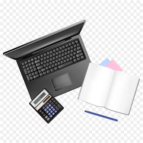 Office Desk Top View by Office Supplies Desk Material Top View Png