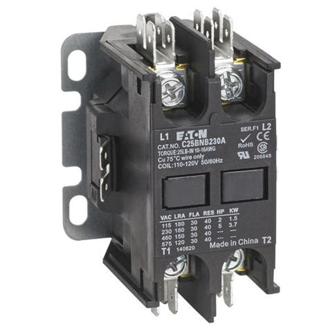240 Vac Contactor Wiring by Eaton 40a Two Pole Definite Purpose Contactor At Menards 174