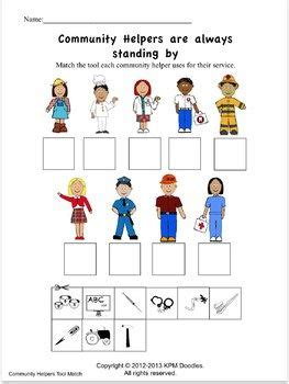 community helpers activities and worksheets a tpt