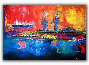 Kunst Online Shop : burgstaller malerei acrylbild bunt abstrakt kunst original wandbilder inferno 1 http www ~ Orissabook.com Haus und Dekorationen