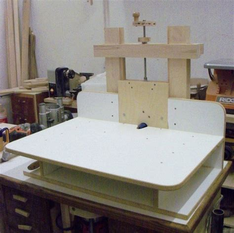 shop built horizontal router table  peter oxley