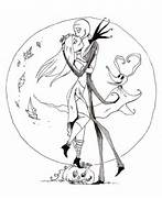 Jack And Sally Coloring Pages Jack and sally by ellis1342  Jack And Sally Coloring Pages