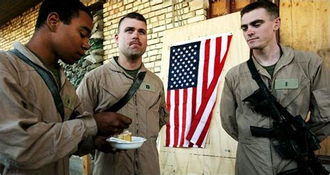 dusty outpost  iraq cake  cut  marines young