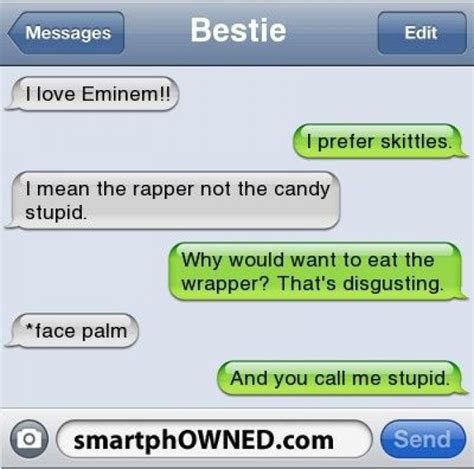 Funny Text Memes - i love eminem funny text
