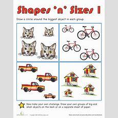 Shapes 'n' Sizes I  Worksheet Educationcom
