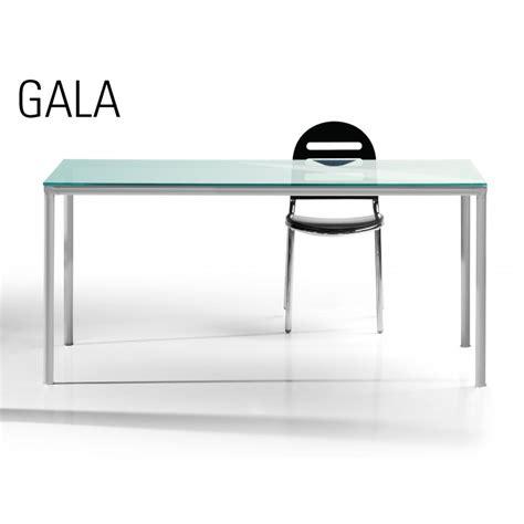 table bureau en verre table de salle à manger ou bureau de travail gala