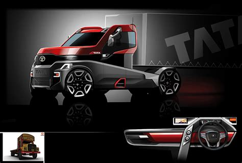 tata semi  truck concept  behance