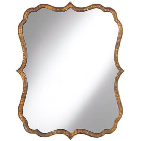 uttermost mirrors free shipping uttermost spadola 30 quot high hammered copper wall mirror