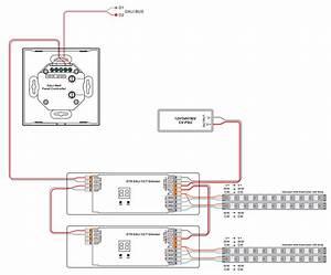 Dual Color Multi Groups Dt8 Dali Touch Controller Sr