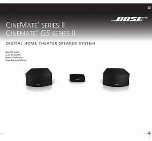 Bose Cinemate Gs Series Ii Owner U0026 39 S Manual Pdf Download