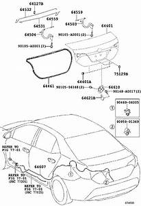 2016 Toyota Corolla Lock Assembly  Luggage Compartment