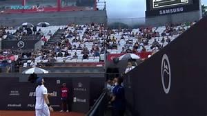 Pablo Cuevas Racquet Toss at Rio Open - YouTube