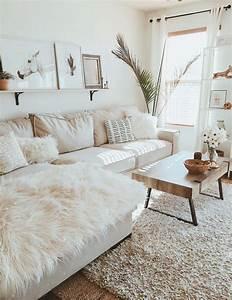 White, Living, Room, Modern, Boho, Farmhouse